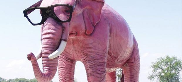 The Most Incredible Roadside Sights - Pink Elephant