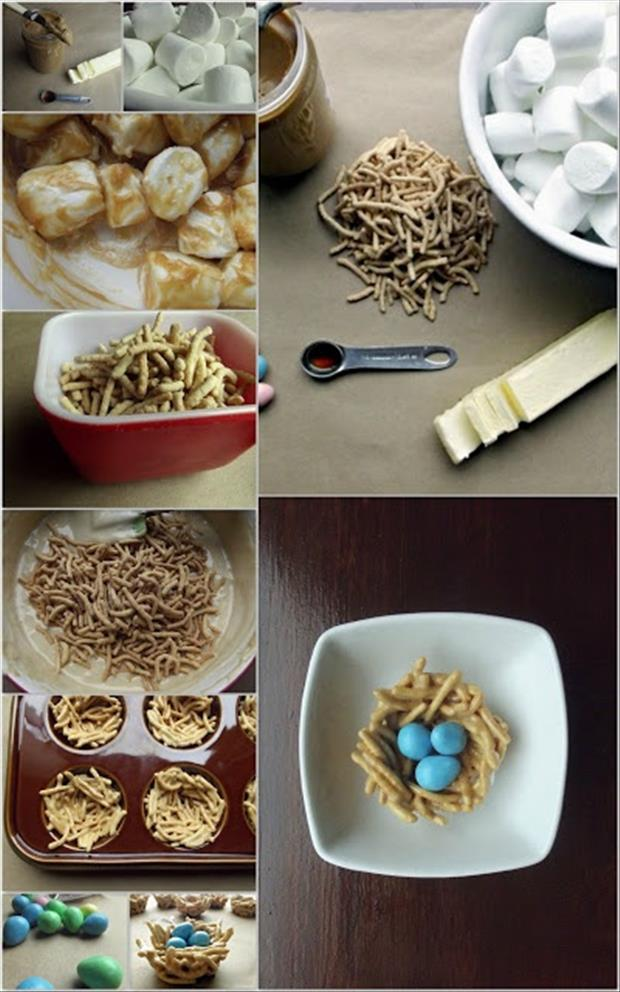 a Easy Easter DIY Crafts- Edible bird nest treat