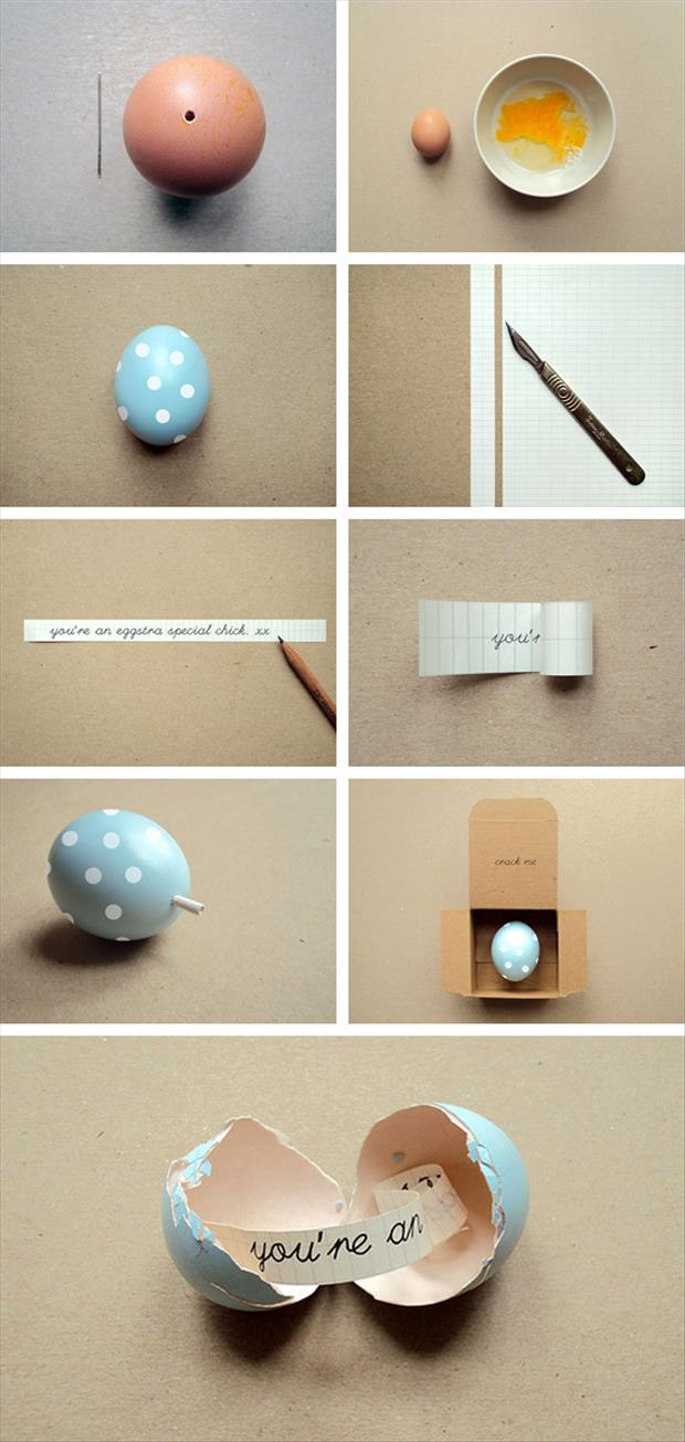a Easy Easter DIY Crafts- Message in egg