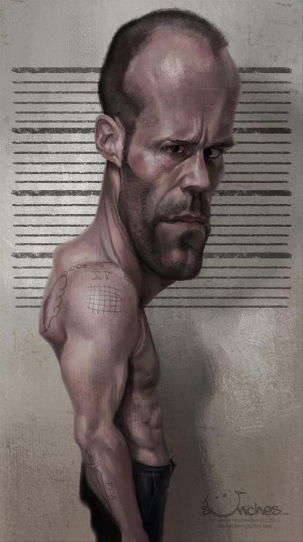 a Funny Celebrity Charicatures-Jason Statham
