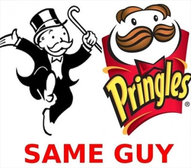 a can't be unseen monopoly guy is the same as pringles guy