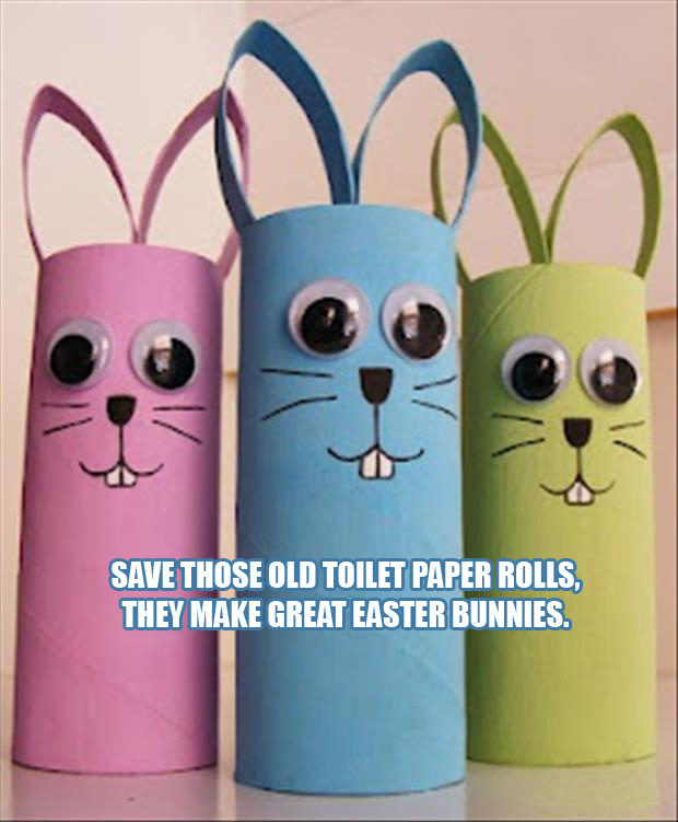 a easter craft ideas from old toilet paper rolls