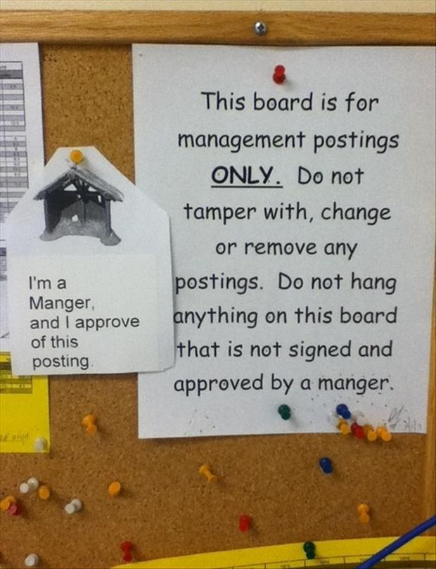 a funny office board signs