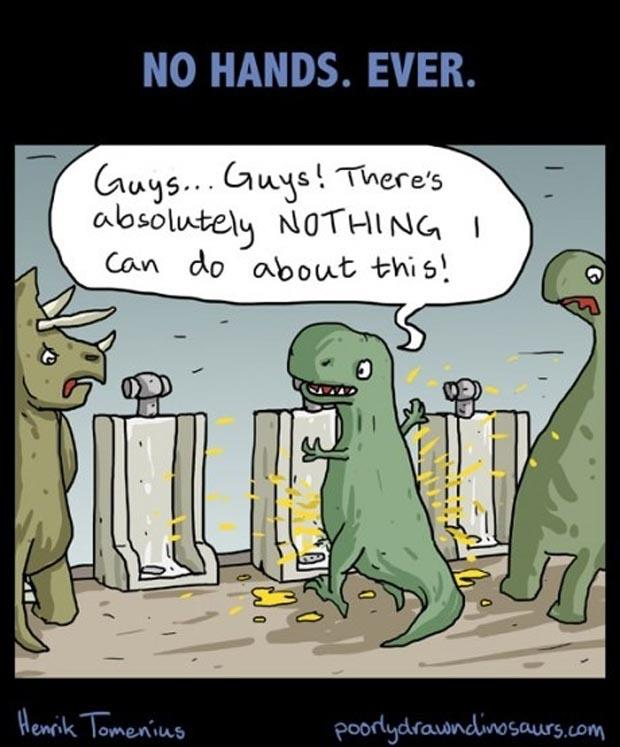 a funny peeing in the urinal comics