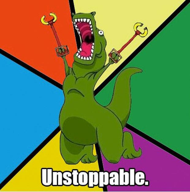 a funny t-rex pictures unstoppable