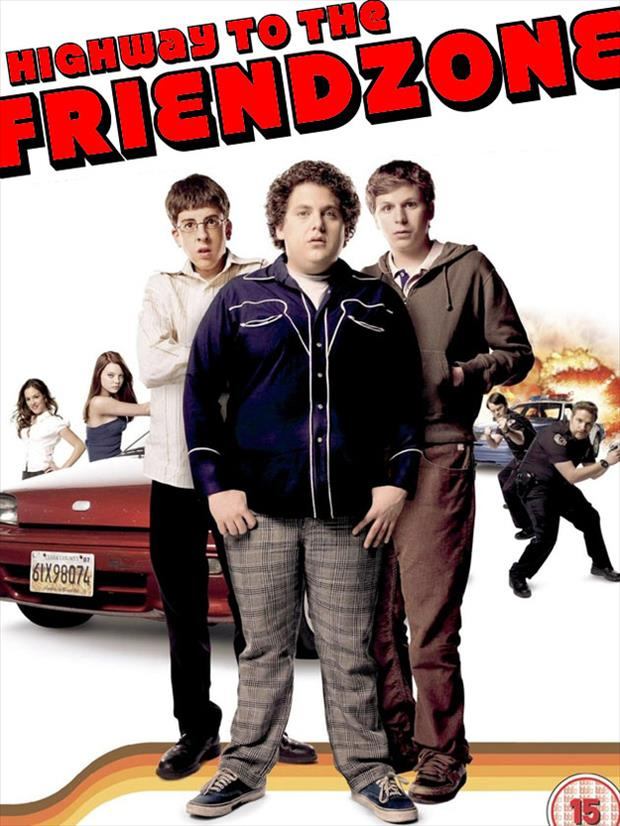 a highway to the friendzone funny movie posters