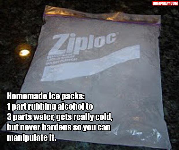a how to make an ice pack that doesn't freeze solid