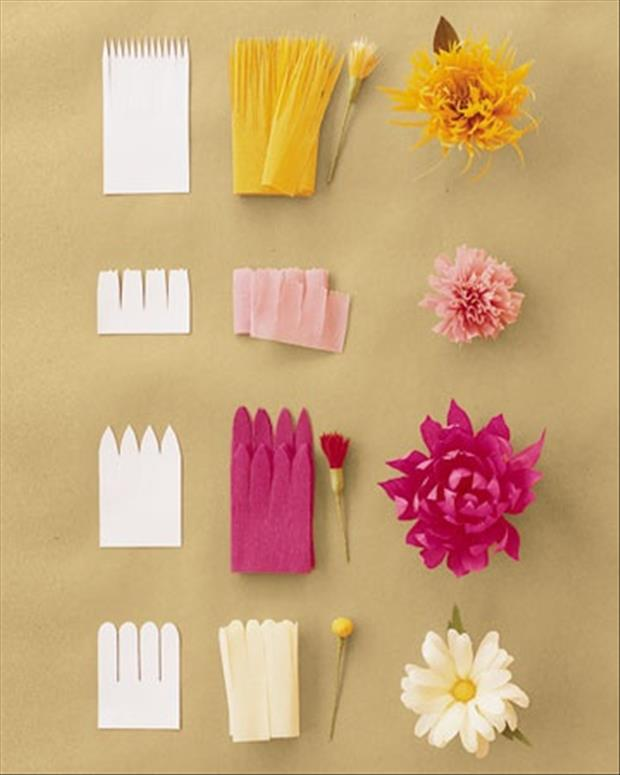 a how to make paper flowers - Dump A Day