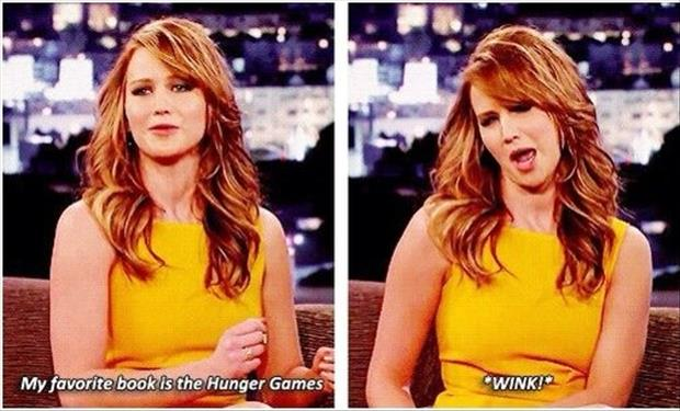 a jennifer lawrence favorite book wink