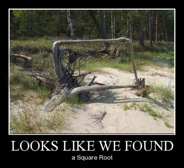 a looks like we found a square root