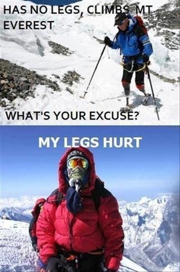 a man with no legs climbed mount everest