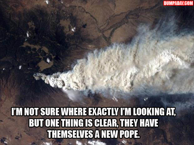 a  not sure what exactly I'm looking at, but one thing is clear, they have themselves a new pope