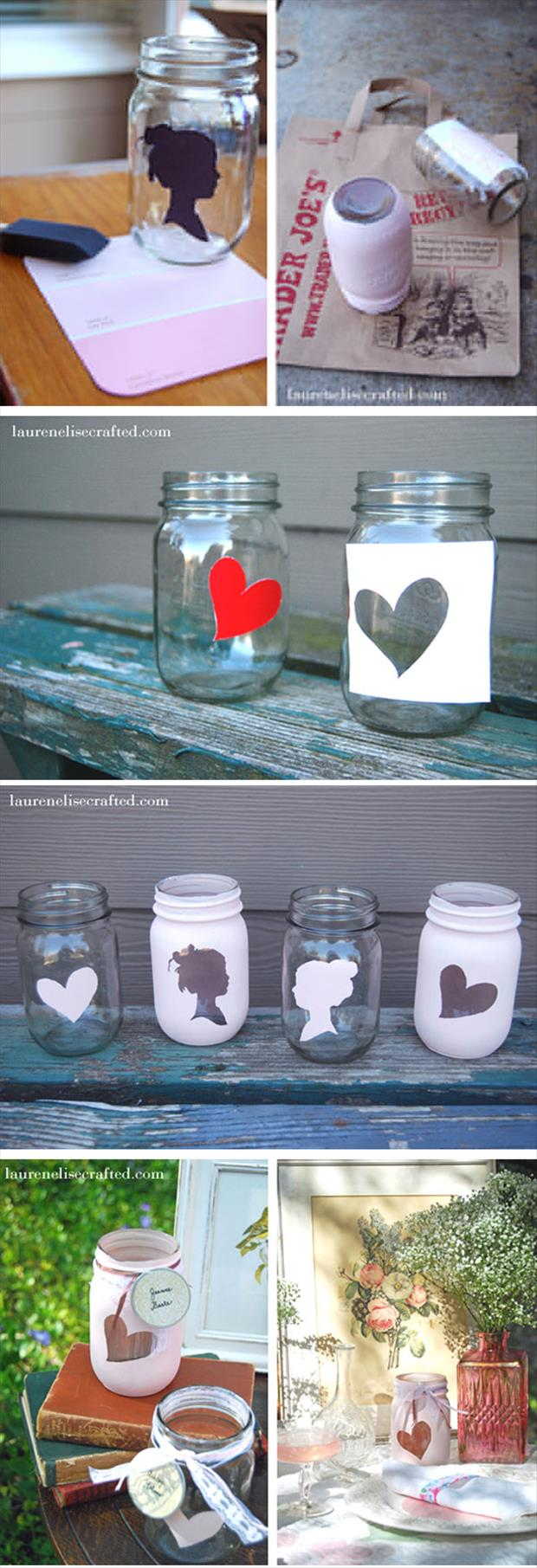 a painted mason jars craft ideas