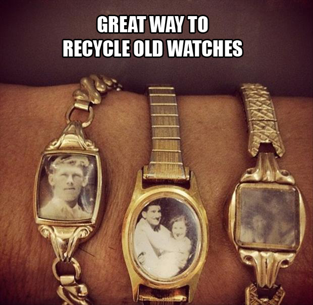 a recycle old watches
