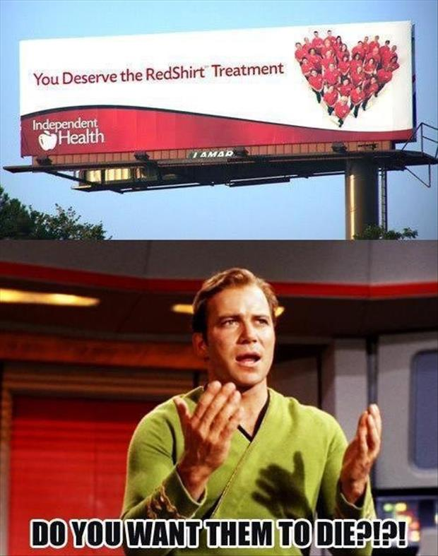 a red shirt star trek funny pictures