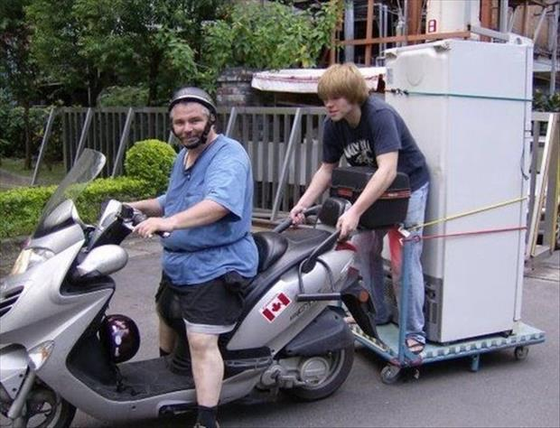 a seemed like a good idea at the time funny pictures motor cycle