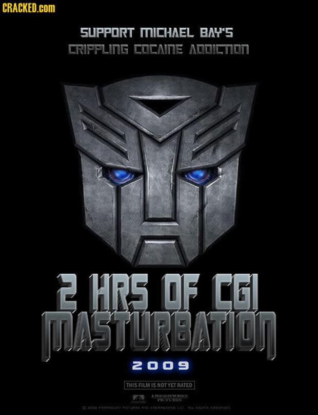 a transformer movie poster funny