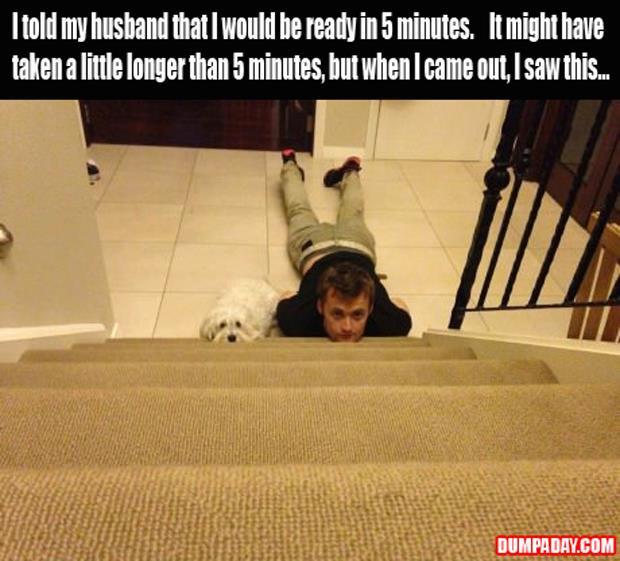 a wife takes to long to get ready funny pictures