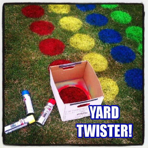 back yard twister fun outdoor games