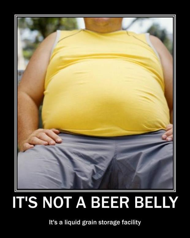 beer belly demotivational posters