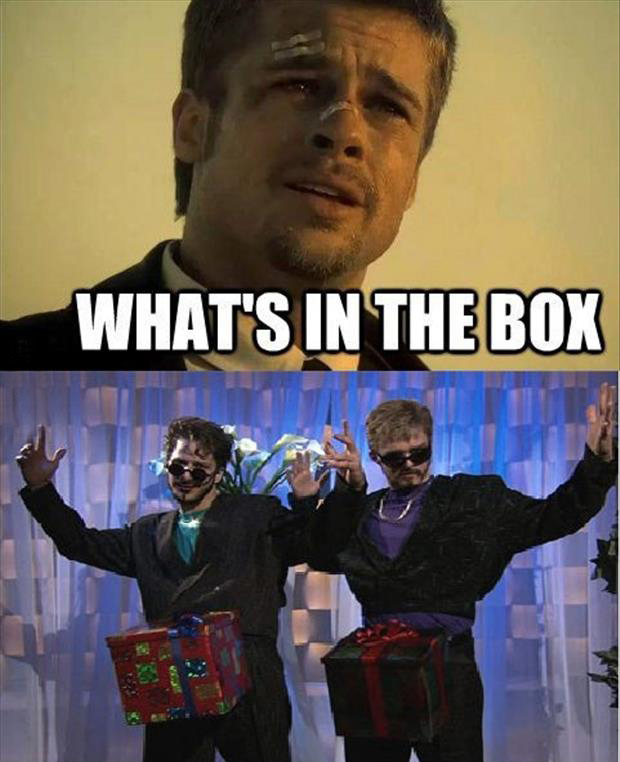 brad pitt what's in the box