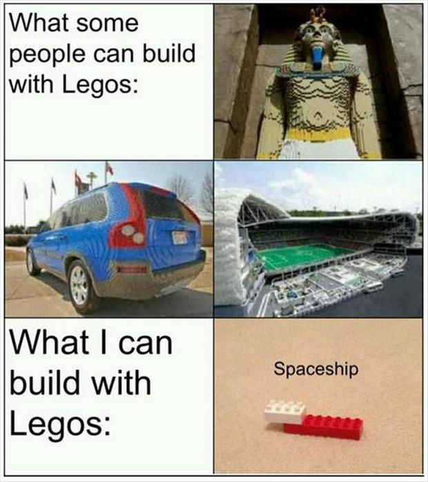 building things with legos