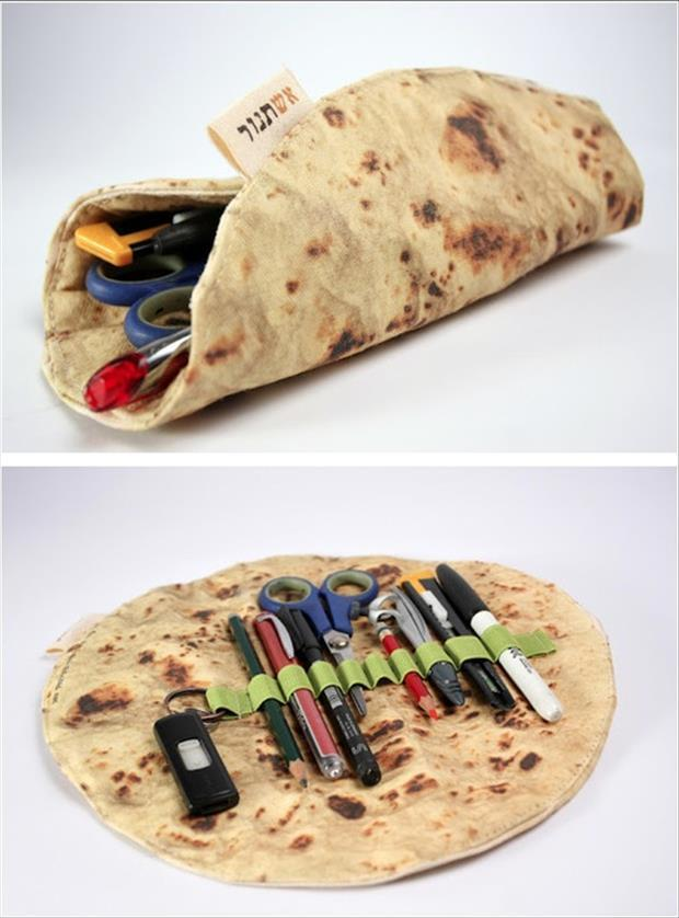 burrito pen holder