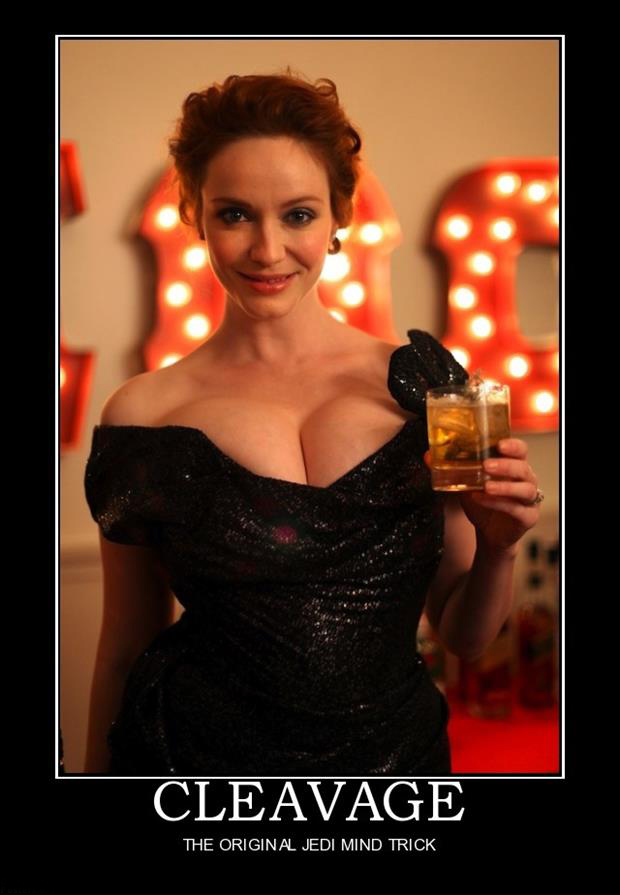 cleavage demotivational posters