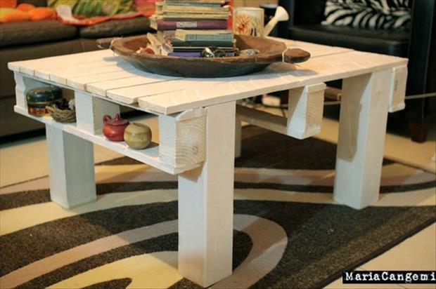 coffee table from used pallets