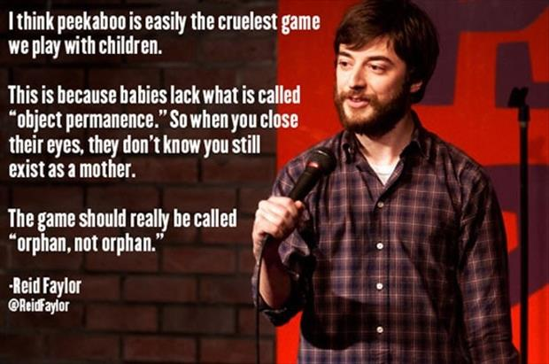 comedian quotes peek a boo game