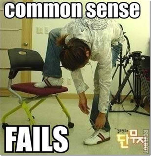 common sense fail