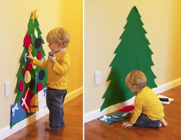 craft ideas christmas tree for kids