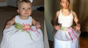 Funny Dad Copies Baby Pictures – 15 Pics
