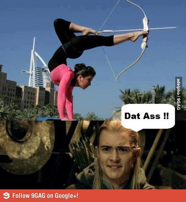 dat ass bow and arrow