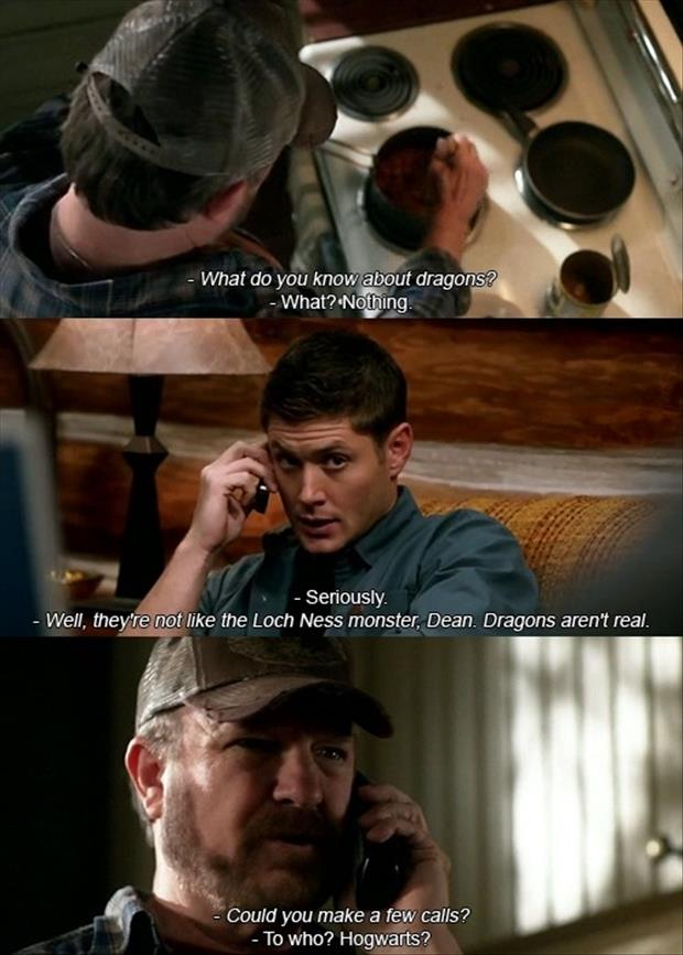 dean supernatural funny quotes