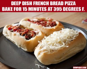deep dish french bread pizza