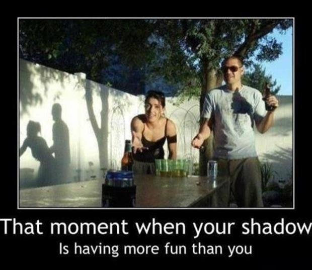 demotivational posters, funny shadows