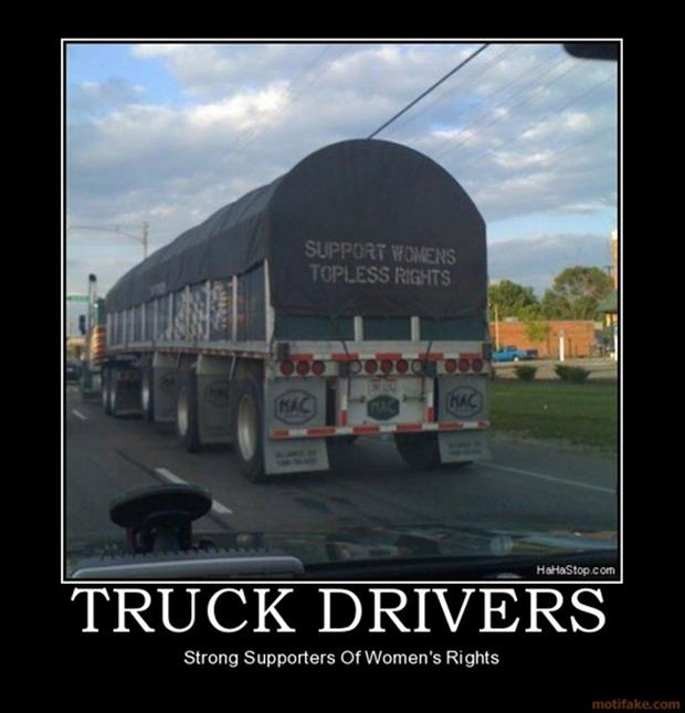 demotivational posters truck drivers