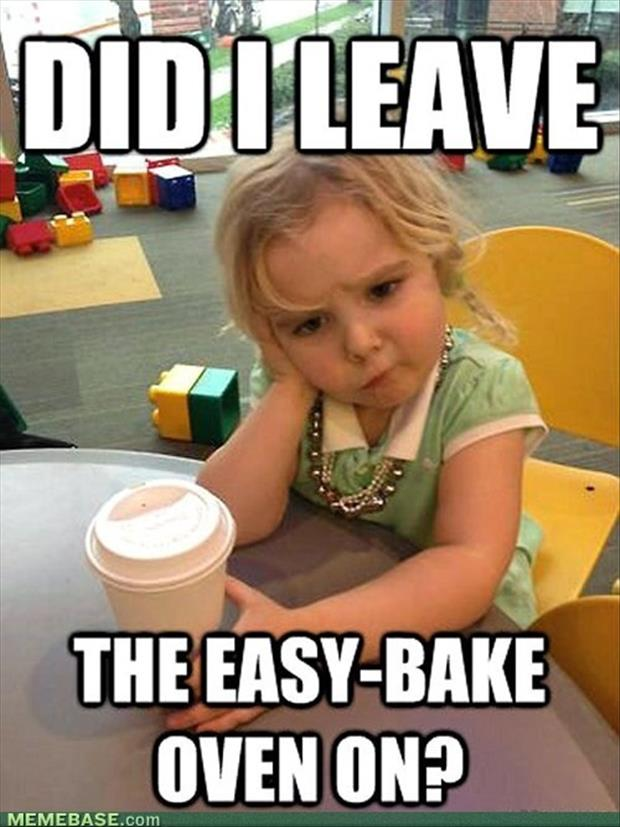 did I leave the easy bake over on funny kid pictures