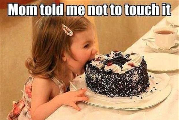 do not touch the cake