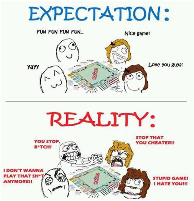 expecations vs reality