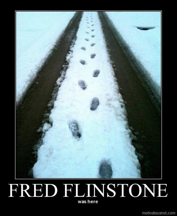 fred flinstone was here