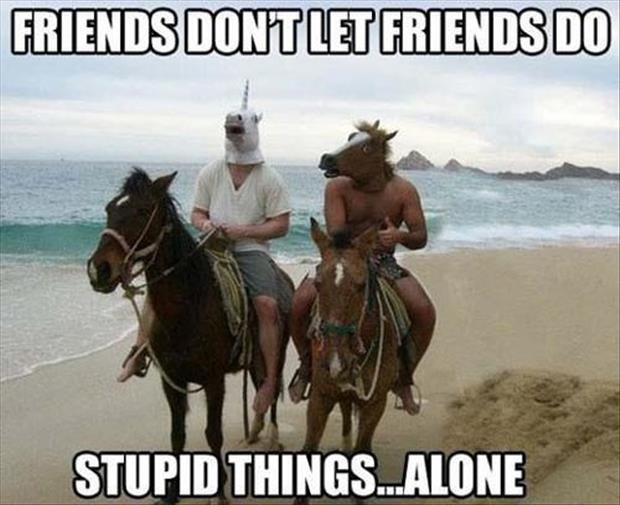 friends don't let friends do stupid things alone
