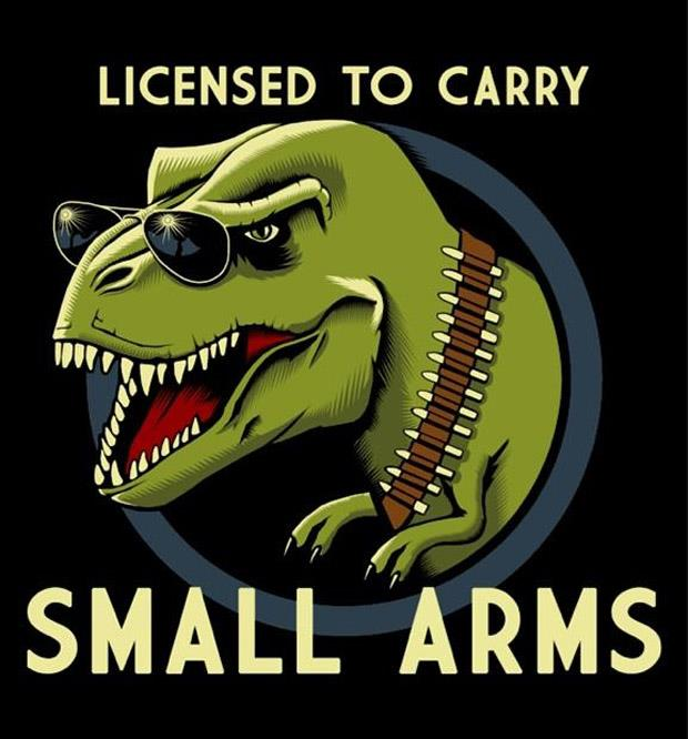 funny-T-Rex small arms