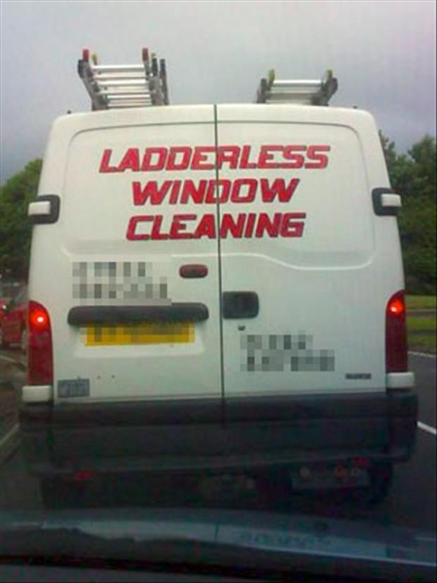 funny business vehicles window cleaning