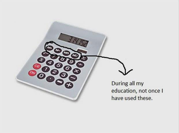funny buttons on a calculator I have never used