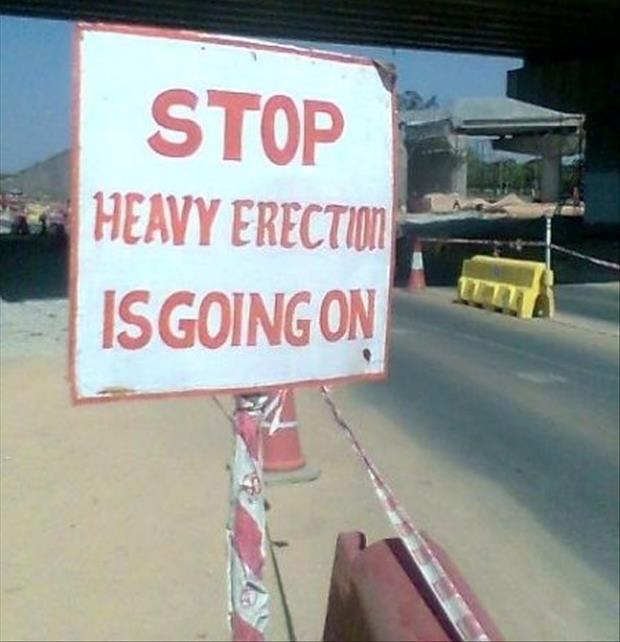funny construction signs