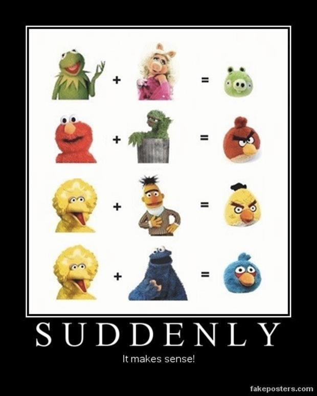 funny demotivational posters angry birds