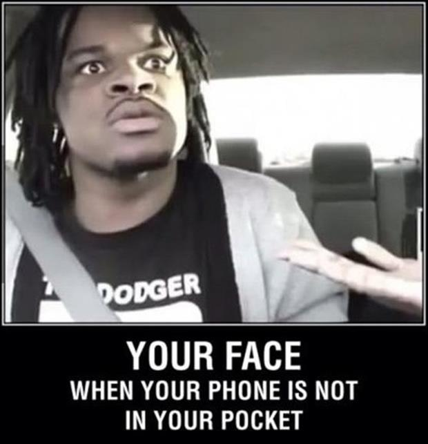 funny faces when you don't have your phone