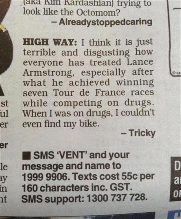 funny lance armstrong